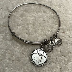 Alex and Ani Heart and Golf Flag Bracelet
